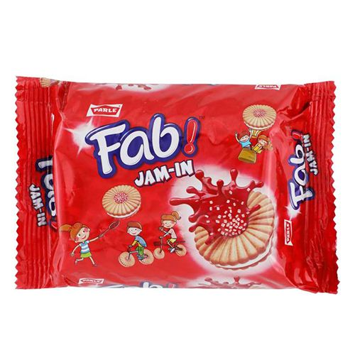 Parle Sandwich Biscuits Fab  Jam in Fruit Flavour